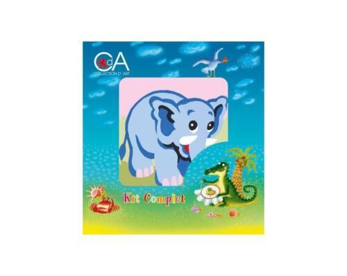 Tapestry Kit para niños por collection d /'art-Colorido Elefante