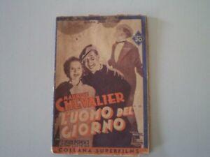 CINEROMANZO-MAURICE-CHEVALIER-L-039-UOMO-DEL-GIORNO-1937-ED-IMPERO