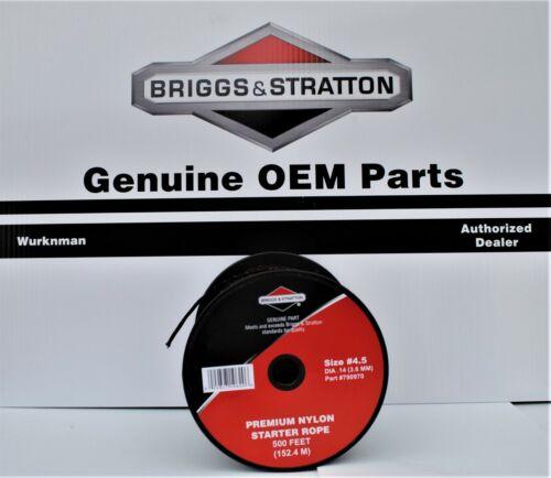 500/' Genuine OEM Briggs /&  Stratton  790970  #4.5  Starter Rope