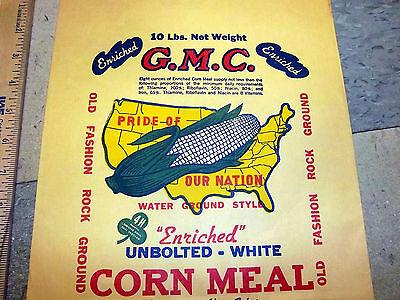 Vintage 1940s PEMBROKES BEST self rising meal bag 10 pound bag great graphics!