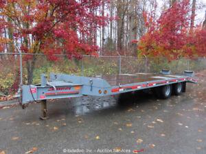 Interstate-20DT-Flatbed-Equipment-Trailer-24-039-13-Ton-Dovetail-Ramps-bidadoo