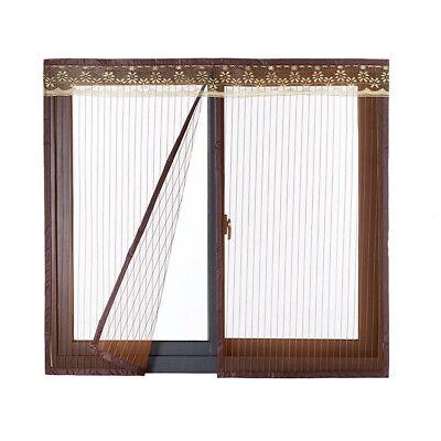 Frank Fliegengitter Fenster Insektenschutz Magnet Vorhang Für Schiebefenster Kaffee