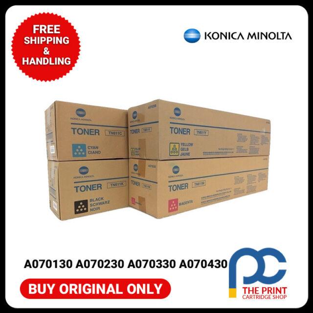 Original Konica Minolta  TN611 CMYK Complete Toner Cartridge Set
