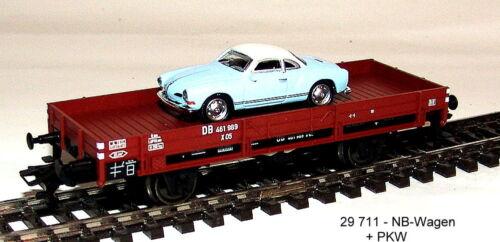 Desde 29711 Märklin baja bordo carro cargado con automóviles-modelo de nuevo a partir de envase de inicio