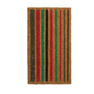 Ikea Burso Heavy Duty Coir Door Mat Multicolour Striped 70
