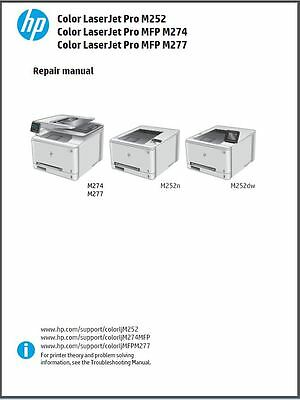 HP Color LaserJet Pro MFP M176 M176n M177 M177fw Service Repair Manual