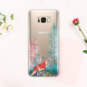 Nature-Samsung-Galaxy-S8-S9-S10e-Plus-Silicone-Case-Fox-Samsung-Note-8-9-Cover