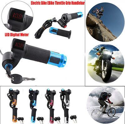 Handle Set Throttle Cable Handlebar Grip For Electric Bike Scooter Replacement