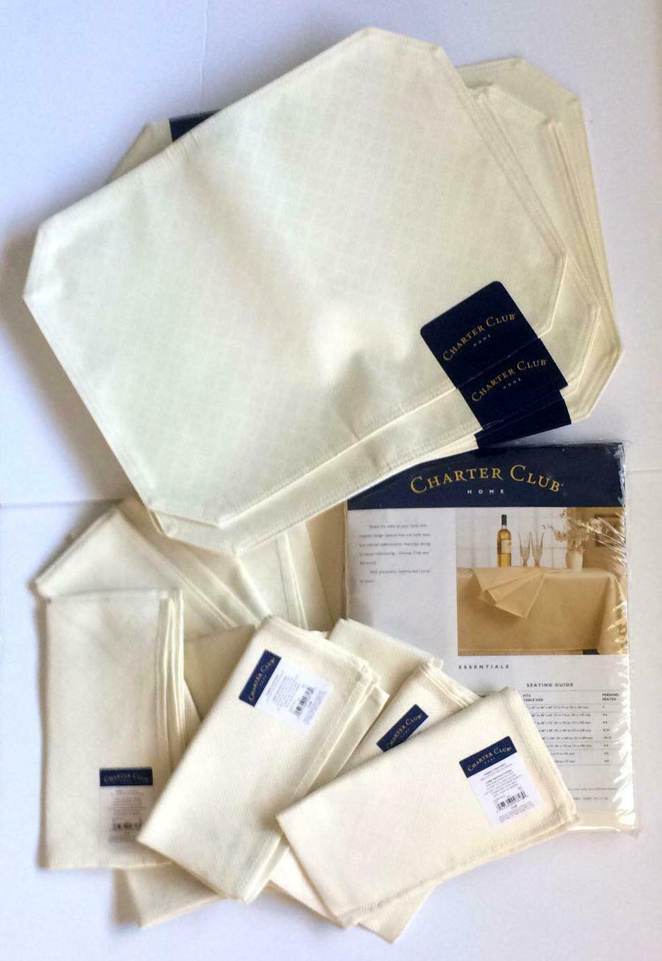 CHARTER CLUB HOME TABLECLOTH 70  X 102  OBLONG PLUS 8 PLACEMATS AND 12 NAPKINS