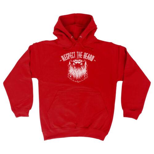 Funny Novelty Hoodie Hoody hooded Top Respect The Beard