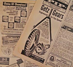1960s-Car-Magazine-Print-Ads-Getz-Gears-Drag-Fast-S-amp-S-Headers-Speedway-Motors