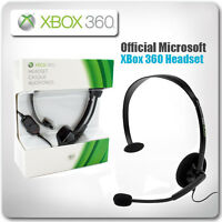 Official Microsoft ~ XBox 360 Wired Headset (New & Headset)