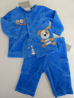 Blue Dog 3 6 9 12 Months 3-piece Velour Cardigan Pants Tee Set Baby Boy Clothes