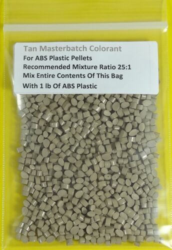 ABS Masterbatch Tan Colorant Plastic Pellets 3D Printing Injection Molding