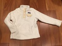 Patagonia Girls Re-tool Snap T White Rxn Size Xs 5/6 Pullover Fleece