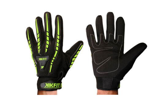 KIKFIT Thermal Motorbike Motorcycle Gloves All Weather High Visibility Cycling