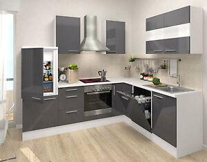 Respekta premium l forma winkelküche cucina angolo cottura bianco