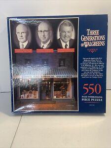 550 PC. WALGREENS 1993 (THREE GENERATIONS OF WALGREENS) JIGSAW PUZZLE (NEW)