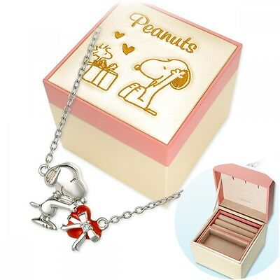 SNOOPY × LAZY SUSAN 65th collaboration Silver Heart necklace /& jewelry BOX New