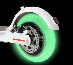For-Xiaomi-Mijia-M365-Scooter-Luminous-Fluorescent-Hollow-Solid-Wheel-Tyre-Tires