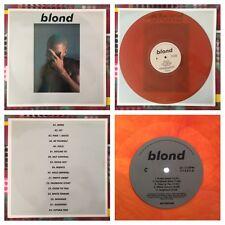 FRANK OCEAN BLOND RARE ORANGE COLOR VINYL 2x LP NEW EU IMPORT ( BLONDE