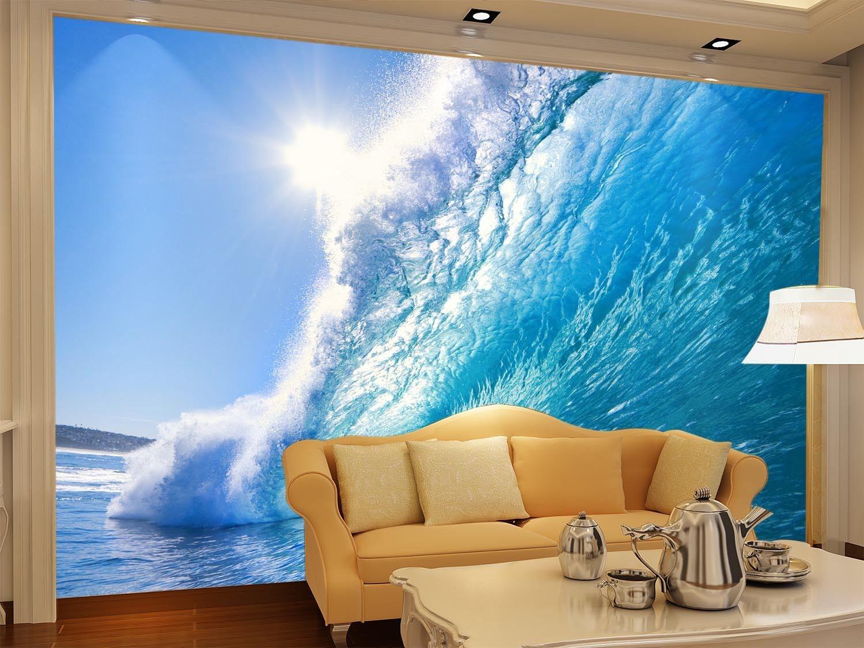 3D  Sonnen Meer Wellen 74 Tapete Wandgemälde Tapete Tapeten Bild Familie DE  | Zürich Online Shop  | Mittlere Kosten  | Zuverlässiger Ruf