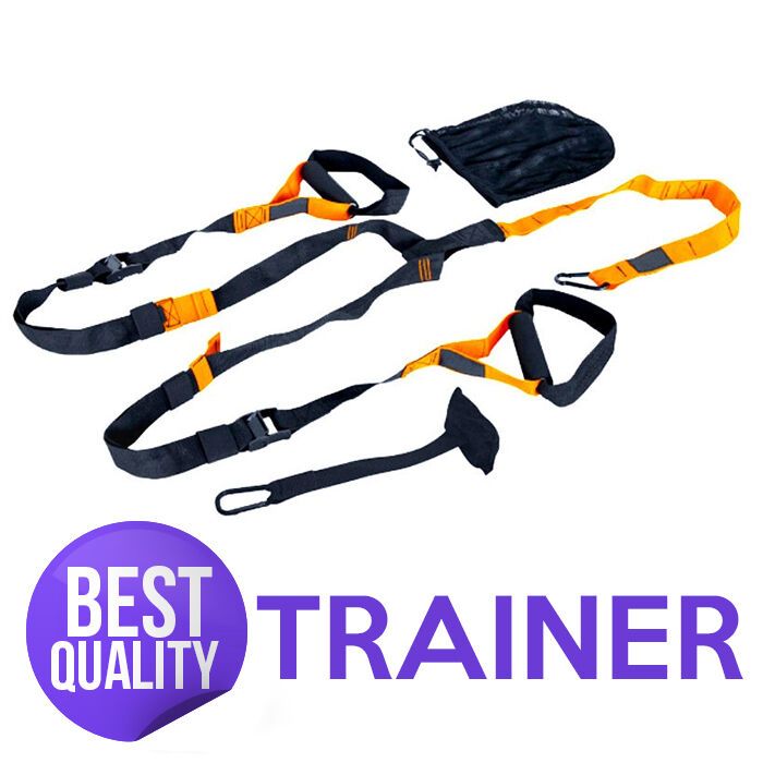 ALL RIGHT BODY TRAINER SUSPENSION STRAPS HOME GYM FITNESS ORYGINAL YELLOW AB