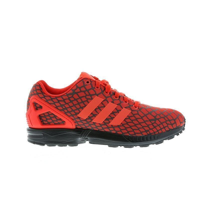 Mens ADIDAS ZX FLUX Red Trainers S78351