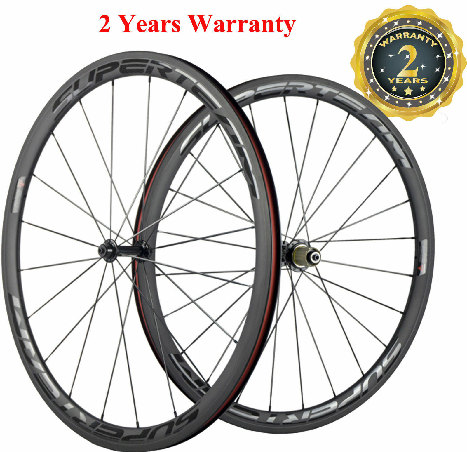 38mm Clincher Road Bike Wheels Bicycle Wheelset Transparent Decal 700C Touring