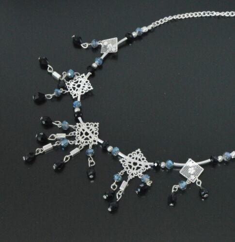 Luxus Statement Kette Halskette Lolilota Paris Filigran Facette Perlen