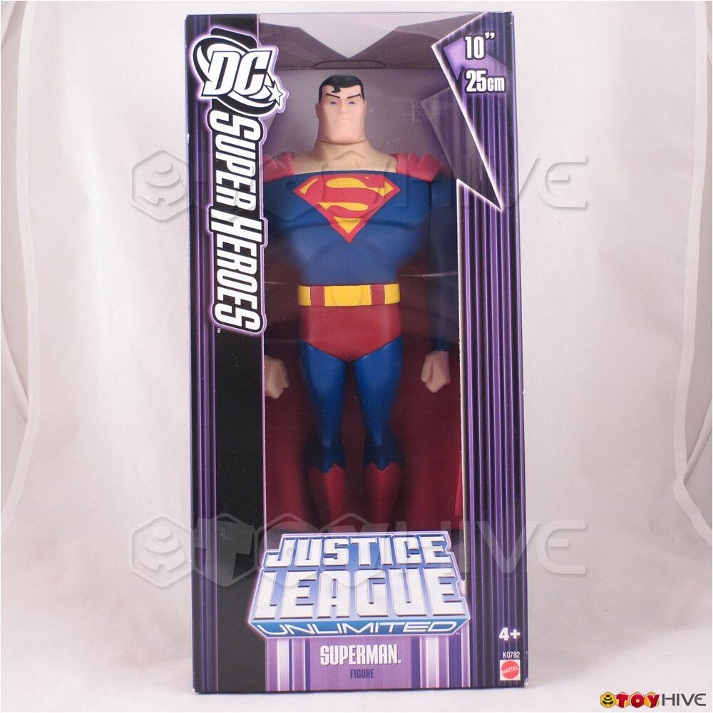 Justice League Unlimited Superman 10 in (environ 25.40 cm) 25 cm figure DC Super Héros violet Box