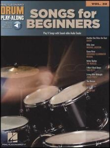 Chansons Pour Les Débutants Drum Play-along Volume 32 Music Book & Backing Tracks Audio-afficher Le Titre D'origine Divers Styles