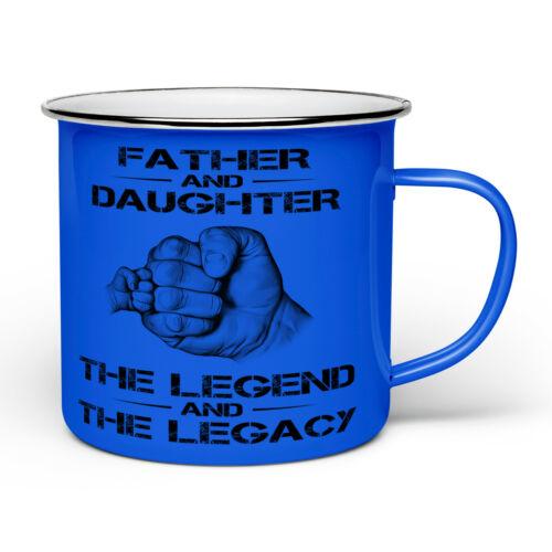 La légende et l/'héritage Nouveauté émail étain cadeau mug-DIVERS TITRES-Bleu