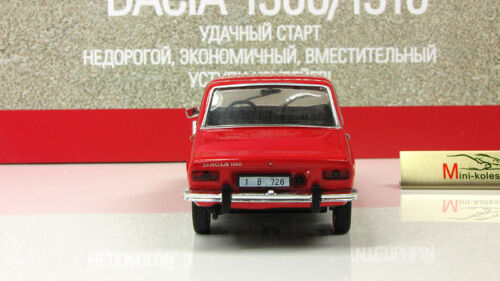 Dacia 1300 Red Romanian Large Family Car 1969 Year 1:43 Scale Diecast Model Toy