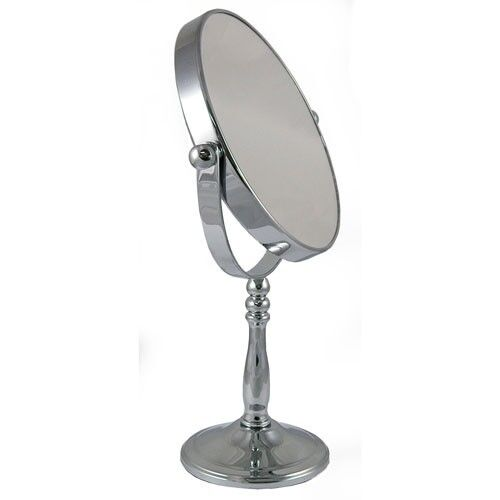 5x Magnification Round Chrome Free Standing Bedroom or Bathroom Mirror 52718CHR