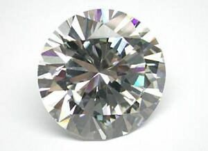 ( 2 ) 6.0 mm Round Cubic Zirconia Gemstone