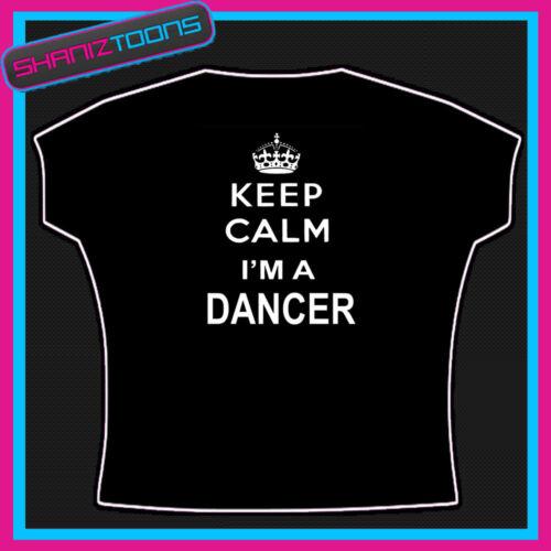 KEEP CALM DANCER DANCE LADIES WOMENS ADULTS T SHIRT