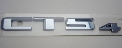 "2015 2016 SATIN CHROME NEW STYLE! Cadillac /""CTS 4/"" Emblem NEW"