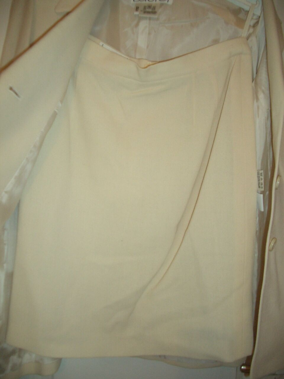 Elegante lusso Statement Escada Couture Laurel Laurel Laurel Costume CREMA 40 42 np1180, - Landhaus 6d55f8