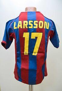 BARCELONA-2004-2005-17-LARSSON-HOME-FOOTBALL-SHIRT-JERSEY-NIKE-SIZE-YXL