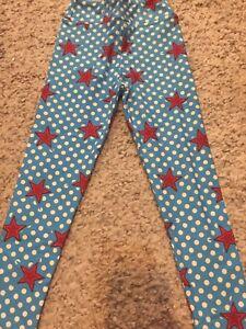3d272978c LuLaRoe kids S/M New leggings Fits 2-6 Small Medium S M Stars Polka ...