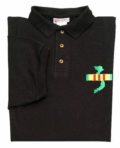 VIETNAM-VETERAN-BLACK-POLO-SHIRTS-EMBROIDERED