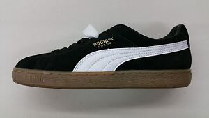 black suede puma classic with gum bottom