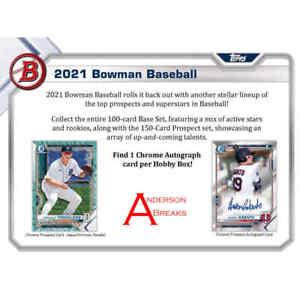 COLORADO ROCKIES 2021 Topps Bowman Baseball 6x HOBBY BOX BREAK #3 HALF CASE