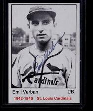 Emil Verban 1983 TCMA 1942-1946 St. Louis Cardinals Autograph Auto Signed Card