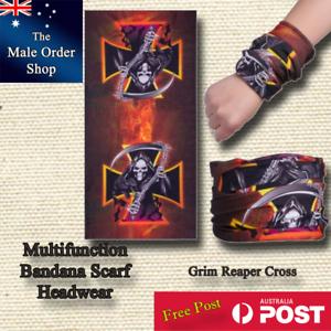 Grim Reaper Black Cross Bandanas Multi Function
