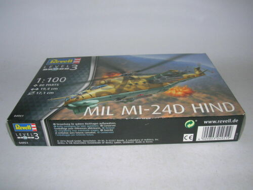 REVELL MIL mi-24d Hind ELICOTTERO ELICOTTERO 1:100 KIT MODEL KIT ART 04951