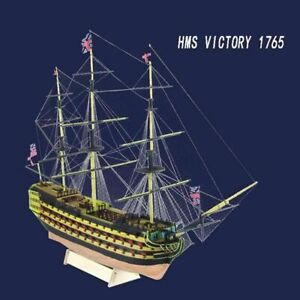 HMS-Victory-1765-Western-Wooden-Sailboat-British-Royal-Navy-Ship-Model-Ships-Set