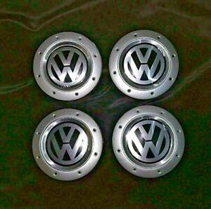 4-x-WHEEL-CENTRE-HUB-CAPS-DAMAGED-FOR-VW-GOLF-MK5-ALLOY-1K0601149E