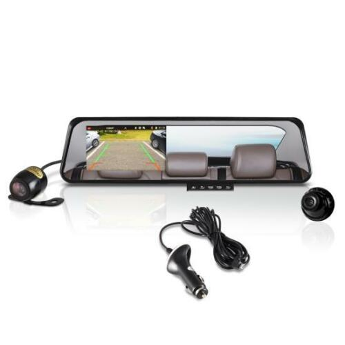 """Pyle PLCMDVR42 HD Rearview Mirror With 4.5/"""" Monitor Dual Car Backup Camera"""